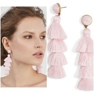 NEW BaubleBar Gabriella Tassel Earrings in Pink